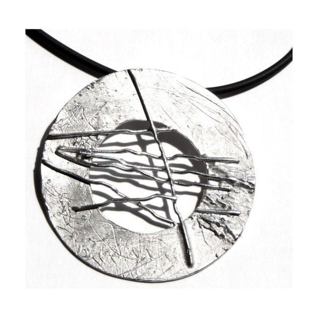 """Silver pendant from """"Discs""""..."""
