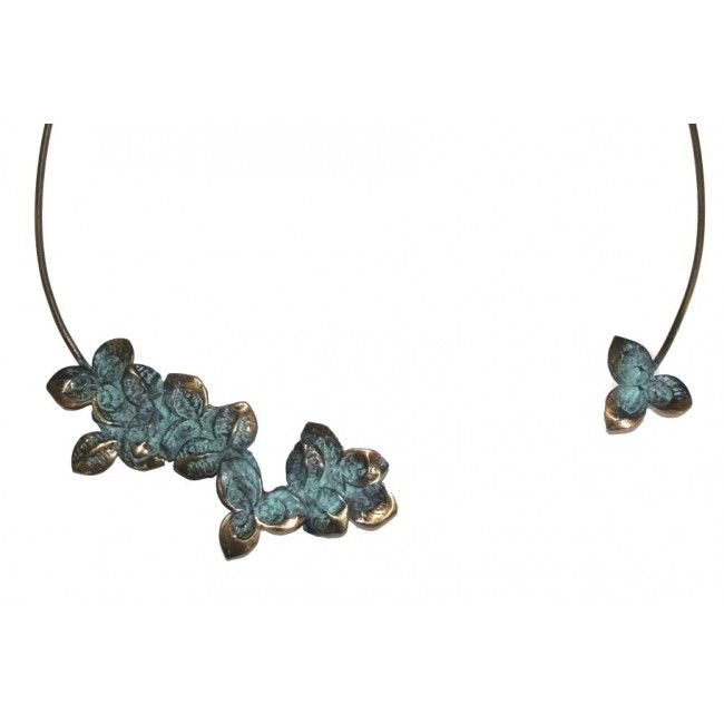 Green bronze Necklace from...