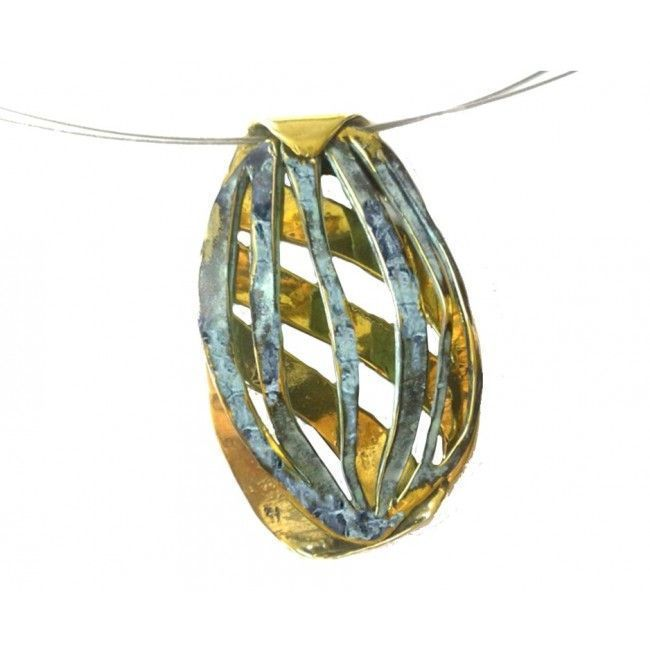 """Bronze pendant from """"Paths""""..."""